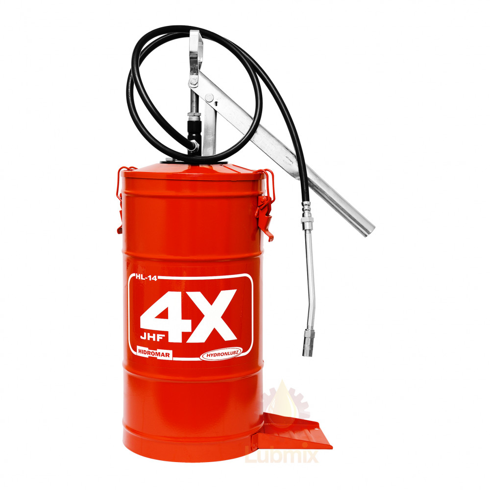 Bomba manual para graxa Hydronlubz MHD-8485 com reservatório para 14 Kg