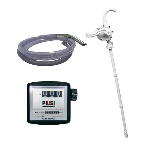 Kit de Bomba Rotativa Manual Lubmix com Medidor Mecânico e Mangueira