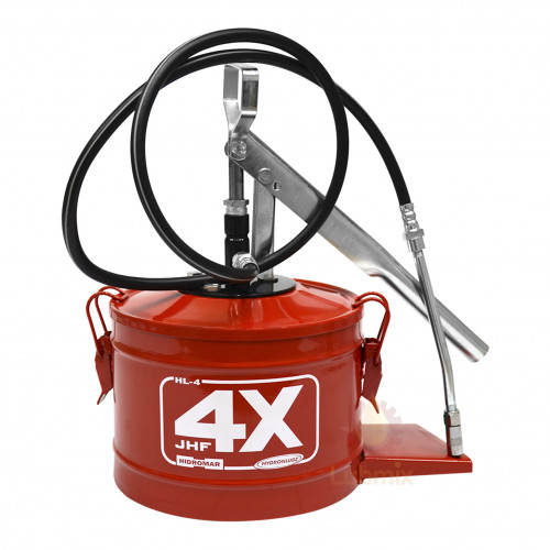 Bomba manual para graxa Hydronlubz 8487 com reservatório para 4 Kg