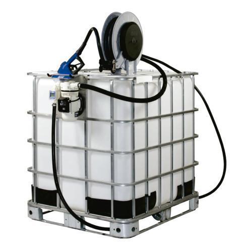 Unidade de Abastecimento IBC Pro 220V Piusi 9168 30LPM Capacidade 1000 Litros com Medidor Digital e Carretel