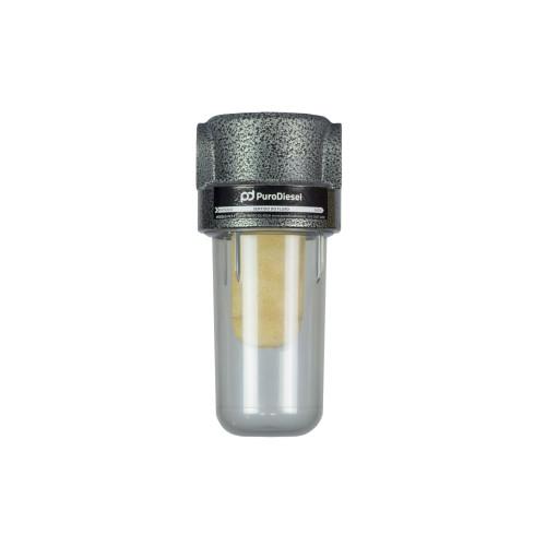 Filtro de linha para Diesel e Biodiesel PuroDiesel FLB-1 50 Micras em Bronze sinterizado Lavável