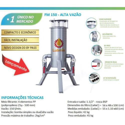 Filtro Desidratador tipo Foguetinho para Diesel PuroDiesel FM-150