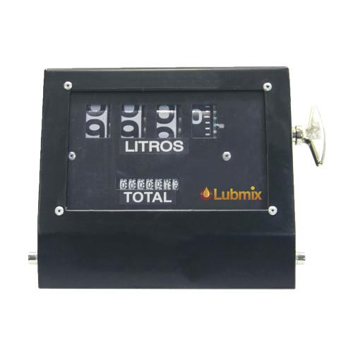 Numerador Mecânico 04 Dígitos com Capa em Aço Lubmix MIX-NCP64