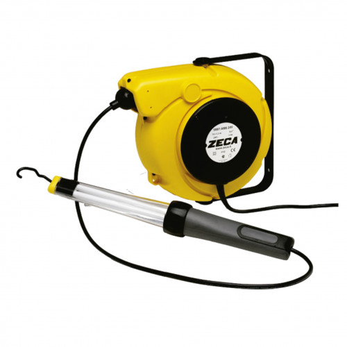 Carretel com Lanterna LED Flourescente 220V Zeca Z4025 com 14M de Cabo Elétrico e 1-5M de Cabo Alimentação Automático Blindado