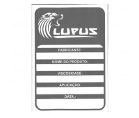 Adesivo para Identificação Grande Lupus 0105 Preto