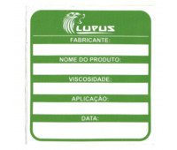 Adesivo para Identificação Médio Lupus 0111 Verde