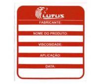 Adesivo para Identificação Médio Lupus 0112 Vermelho