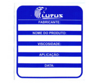 Adesivo para Identificação Médio Lupus 0112 Azul