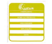 Adesivo para Identificação Médio Lupus 0114 Amarelo