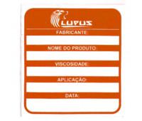 Adesivo para Identificação Médio Lupus 0116 Laranja