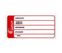 Adesivo para Identificação Pequeno Lupus 0121 Vermelho