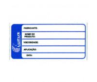 Adesivo para Identificação Pequeno Lupus 0123 Azul