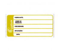 Adesivo para Identificação Pequeno Lupus 0123 Amarelo