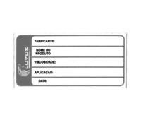 Adesivo para Identificação Pequeno Lupus 0125 Preto
