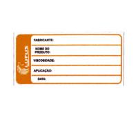 Adesivo para Identificação Pequeno Lupus 0125 Laranja