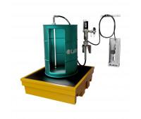 Kit para Lubrificação Pneumático adaptável a Parede e Tambor de 200L com Medidor Mecânico MIX-KPS-MCO200 25LPM SAE90