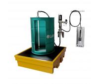 Kit para Lubrificação Pneumático adaptável a Parede e Tambor de 200L com Medidor Programável MIX-KPS-PG200 25LPM SAE90