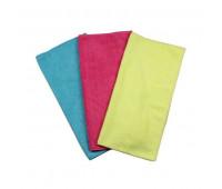 Conjunto de Toalhas Absorventes em Poliester e Poliamida para Abosorção de Água e Limpeza Lupus 0361 Rosa Azul e Amarela