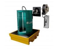 Kit para Lubrificação Elétrico adaptável a Parede e Tambor de 200L com Medidor Mecânico e Carretel MIX-KEC-MCO200 30LPM SAE90