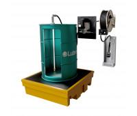 Kit para Lubrificação Elétrico adaptável a Parede e Tambor de 200L com Medidor Programável e Carretel MIX-KEC-PG200 30LPM SAE90