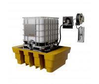 Kit para Lubrificação Elétrico adaptável a Parede e IBC de 1000L com Medidor Digital e Carretel MIX-KEC-MD1000 30LPM SAE90