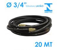 Mangueira para Abastecimento Lubmix 3-4 Polegada Homologada pelo Inmetro 20 Metros Terminal em Latão 1F 1G