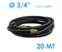 Mangueira para Abastecimento Lubmix 3-4 Polegada 20 Metros Terminal em Latão 1F 1G