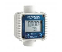 Medidor Digital de Linha para Água Piusi 2121 Acetal Fixo 1 Polegada BSP 120LPM