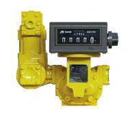 Medidor Mecânico Registrador de Alta Vazão para Diesel Gasolina Querosene Lupus 2600-MP 05 Dígitos 1000LPM 3 Polegadas