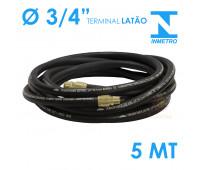 Mangueira para Abastecimento Lubmix 3-4 Polegada Homologada pelo Inmetro 5 Metros Terminal em Latão 1F 1G