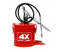 Bomba manual para graxa Hydronlubz 8484 com reservatório para 7 Kg