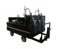 Mini-Comboio Pneumático para Lubrificação tipo Reboque Lupus 9521 com 3 Propulsoras Óleo e 1 Graxa
