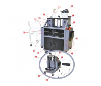 Unidade Móvel para manutenção de Pneus Lupus A1050 com 2 Reservatórios para fluídos e gavetas de ferramentas