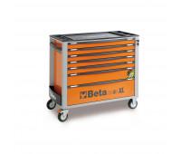Carro para Ferramentas Longo com 07 Gavetas e Sistema Anti-Tilt Beta C24SA-XL/7-O Laranja