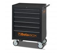 Carro para Ferramentas Tipo Trolley com 6 Gavetas Beta C04-BOX Preto