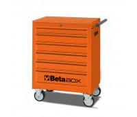 Carro para Ferramentas Tipo Trolley com 6 Gavetas Beta C04-BOX Laranja