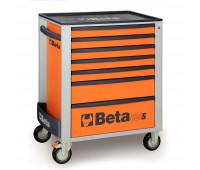 Carro para Ferramentas com 7 Gavetas Beta C24S/7-O Laranja