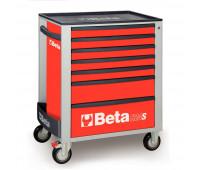 Carro para Ferramentas com 7 Gavetas Beta C24S/7-R Vermelho