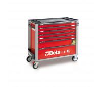 Carro para Ferramentas Longo com 07 Gavetas e Sistema Anti-Tilt Beta C24SA-XL/7-R Vermelho