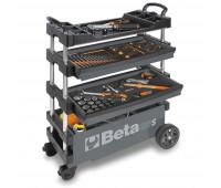 Carro para Ferramentas Tipo Trolley Rebatível para Manutenção Móvel Beta C27S-G Cinza