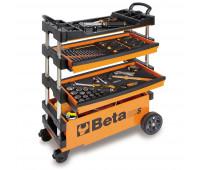 Carro para Ferramentas Tipo Trolley Rebatível para Manutenção Móvel Beta C27S-O Laranja