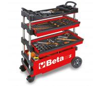 Carro para Ferramentas Tipo Trolley Rebatível para Manutenção Móvel Beta C27S-R Vermelho