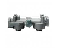 Cabeçote Duplo Donaldson 9180-J 1 1-2 Polegadas NPTF SAE 4 para Diesel e Óleo Lubriricante Bolt Sem Bypass