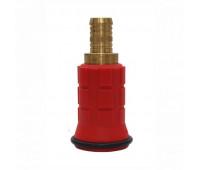 Esguicho Manual para Combate a Incêndio Lupus MLP-F2108 Latão com Revestimento em Borracha Saída Ø 18,5mm