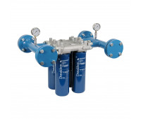 Cabeçote para Instalação em Linha Donaldson 9180-L com Capacidade de 04 Elementos Filtrantes 946LPM