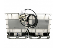 Estação Dupla de Abastecimento Elétrica 220V 30LPM Capacidade 1000 Litros com Medidor Digital Lubmix MIX-KIT3220S