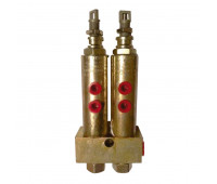 Injetor Linha Simples Lincoln K1061 2 Saídas 3-8Pol NPT