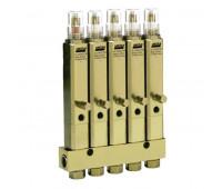 Injetor Linha Simples Lincoln K1069 5 Saídas 3-8Pol 840PSI