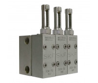 Distribuidor Linha Dupla SKF K1077 6 Saídas 3-8Pol NPT