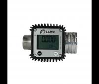 Medidor Digital de Linha em Alumínio para Diesel Gasolina e Querosene Lapek LPK-1901N Ø 1 Pol BSP 120 L/min